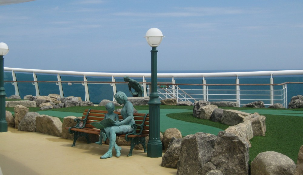 Minigolf auf der Voyager of the Seas