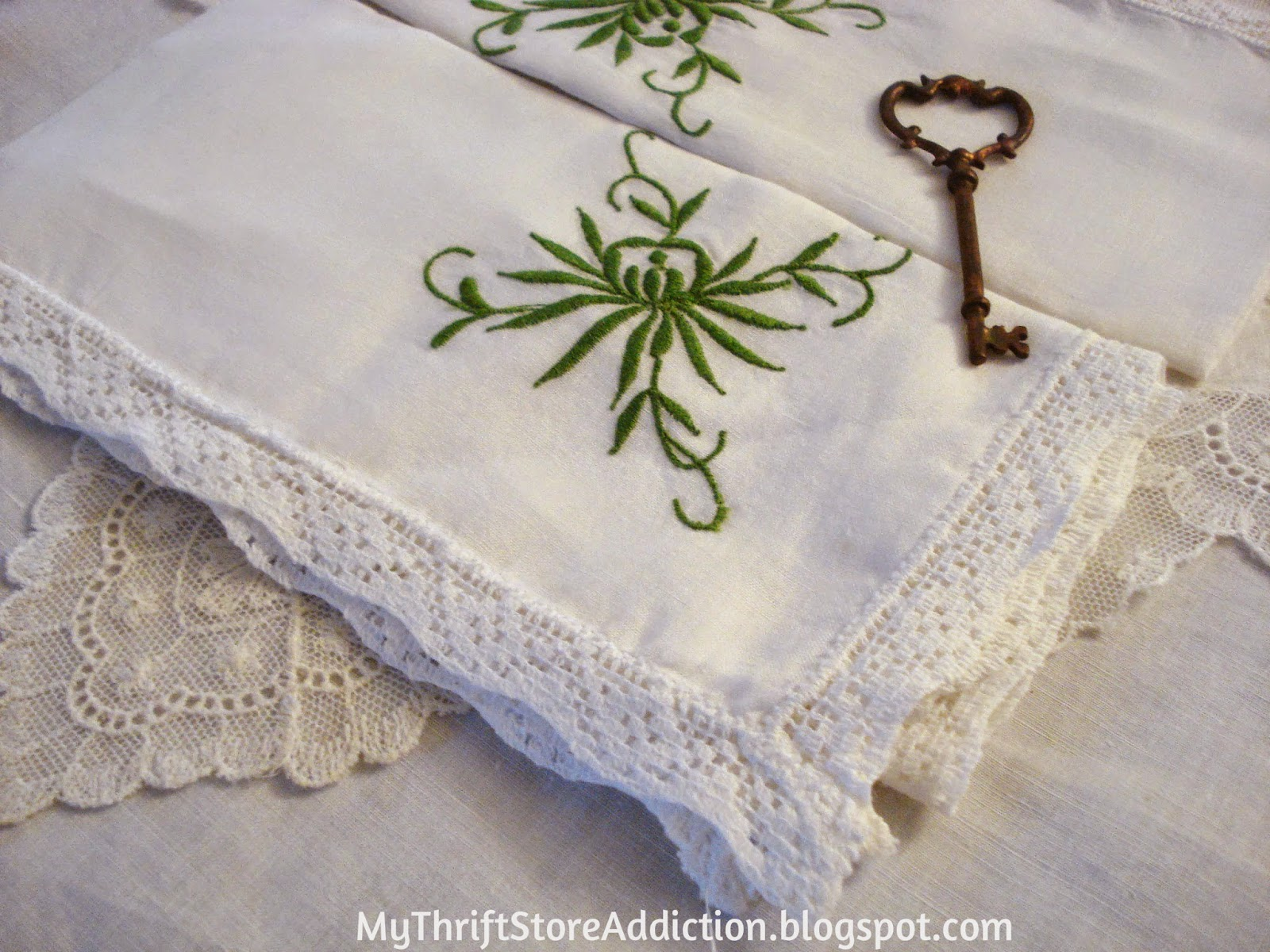 Vintage embroidered napkins