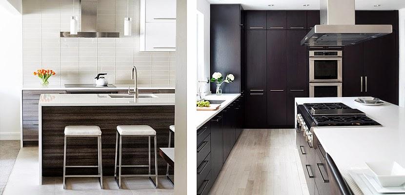 Marzua muebles de cocina en maderas oscuras - Muebles de cocina madera ...