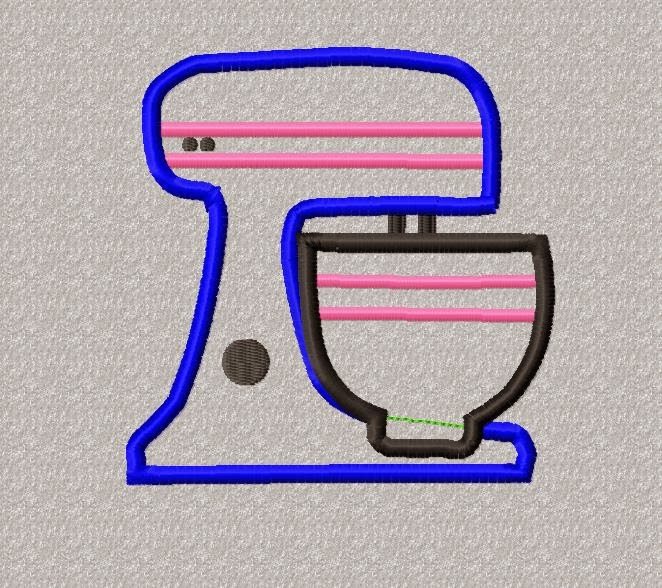 RRW Free Embroidery and Applique Designs  : Free Kitchen Mixer