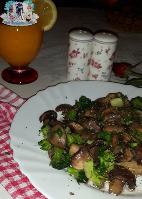 brokolili diyet mantar tarifi, brokolili mantar yemeği, brokolili mantar,