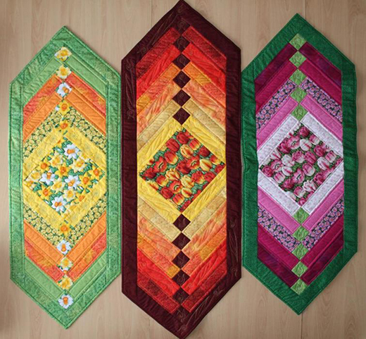 Chevron Table Runner Quilt Free Pattern designed by Vendulka Battais of Journey With Oliven