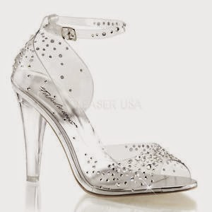 5931e23565a potentially great deal of clear Cinderella bridal shoes