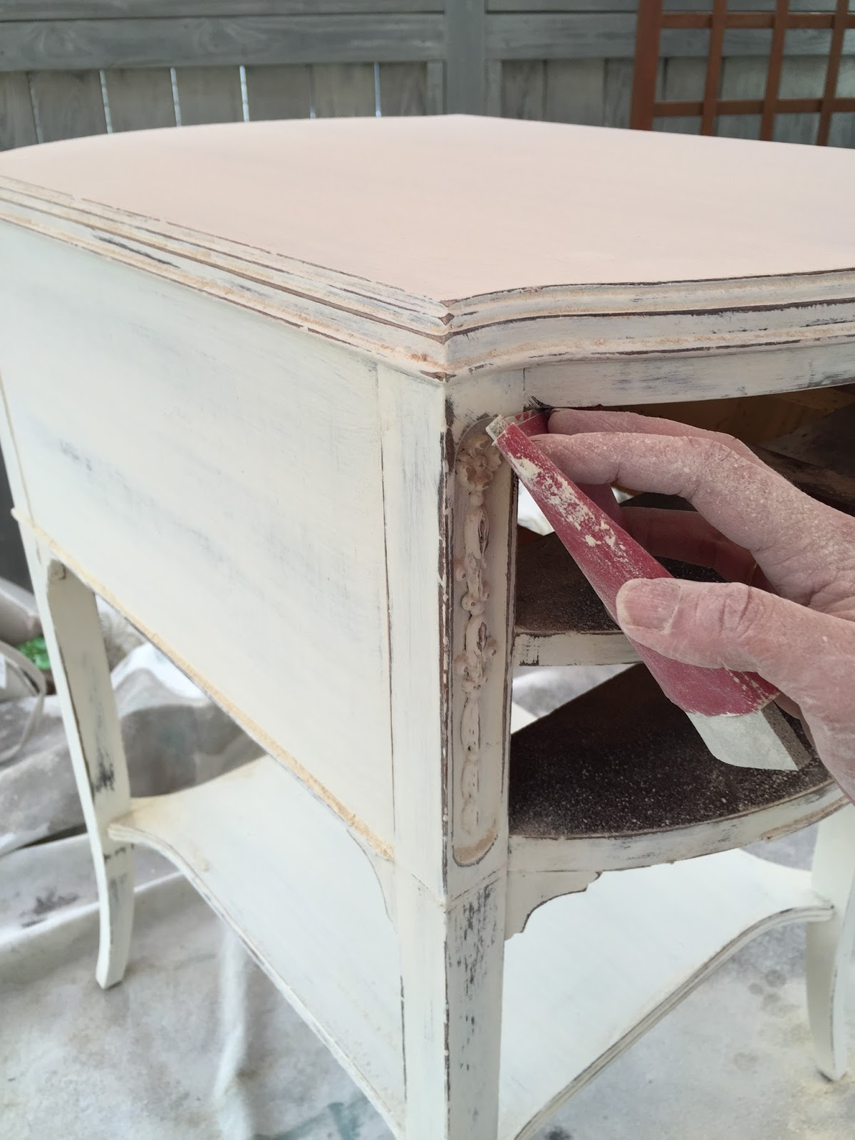 Use sandpaper to create a distressed finish