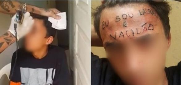Tatuador é preso após escrever 'eu sou ladrão e vacilão' na testa de adolescente