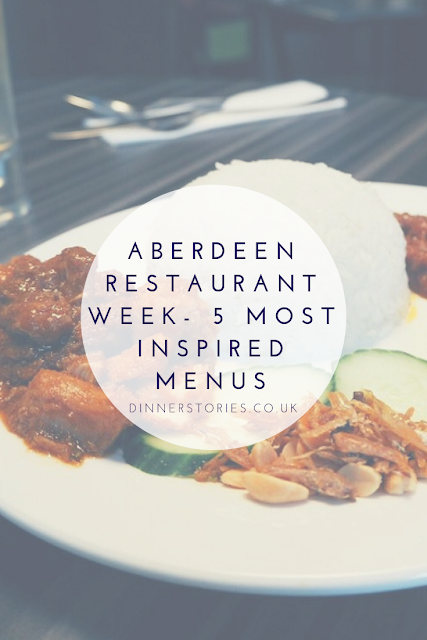 Aberdeen restaurant week - inspired menus