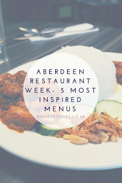 Aberdeen restaurant week - inspired menus