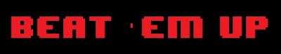 Logo Beat em up 8 bits