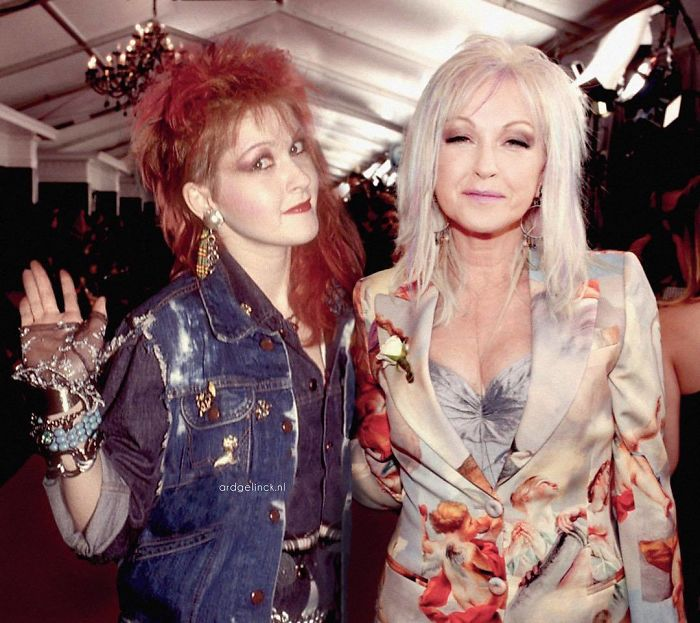 40 Stunning Images Of Celebrities Next To Their Younger Selves