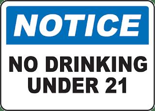 Não beba antes dos 21 anos