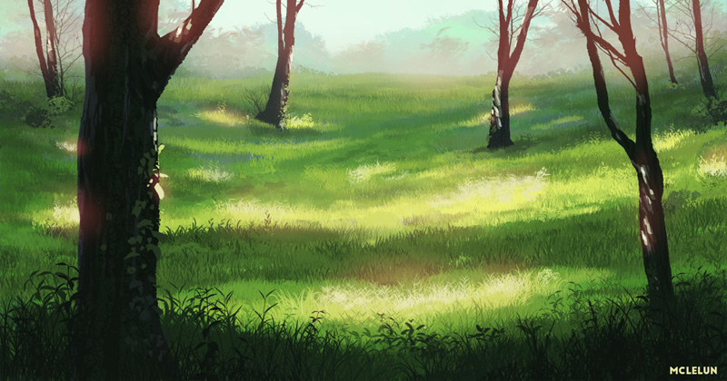 woods and forest painting