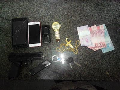 14° Batalhão prende assaltantes da zona rural na Viriato Lobo