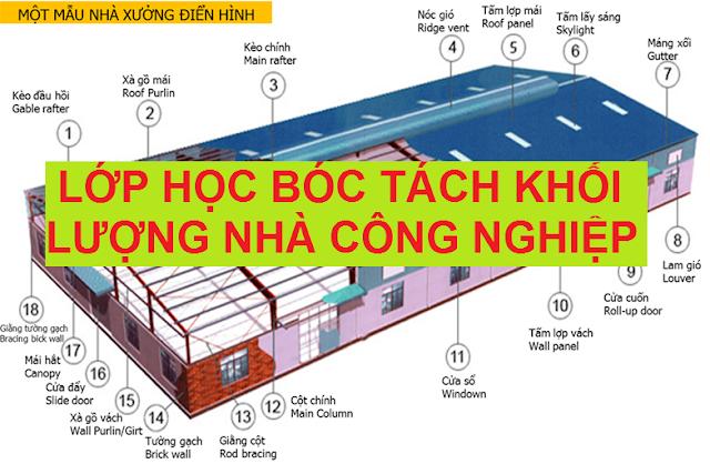 Khóa học bóc tách khối lượng nhà công nghiệp tại tphcm
