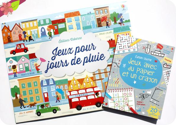 Jeux pour jours de pluie et Jeux avec du papier et un crayon - éditions Usborne