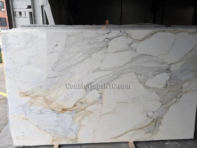 3/4 Calacatta Gold Marble Slabs NYC
