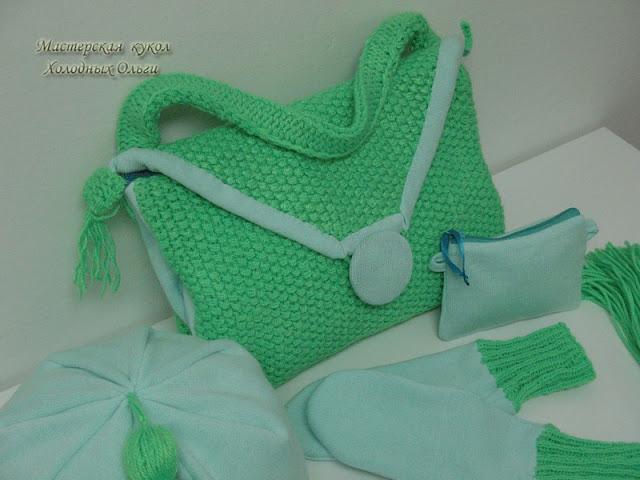 Комбинирование шитья и вязания
