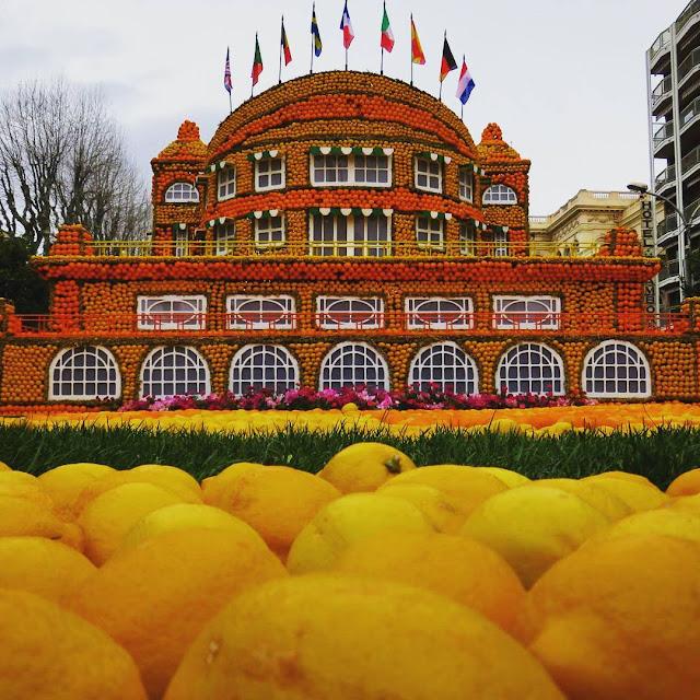Menton Fete du Citron - sculpture - Cinecittà