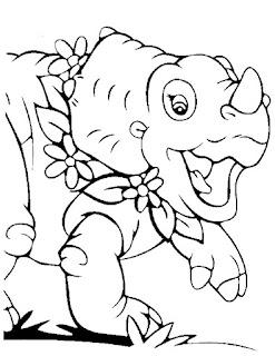 Ausmalbilder Baby Dinosaurier zum Ausdrucken
