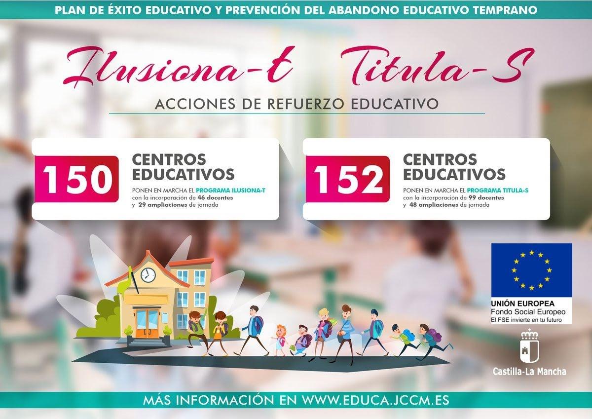 Implantación de los planes de éxito educativo Ilusiona-T y Titula-S
