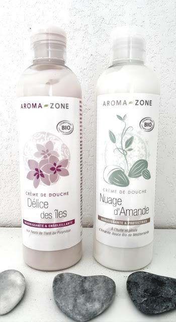 Crèmes de douche bio Aromazone