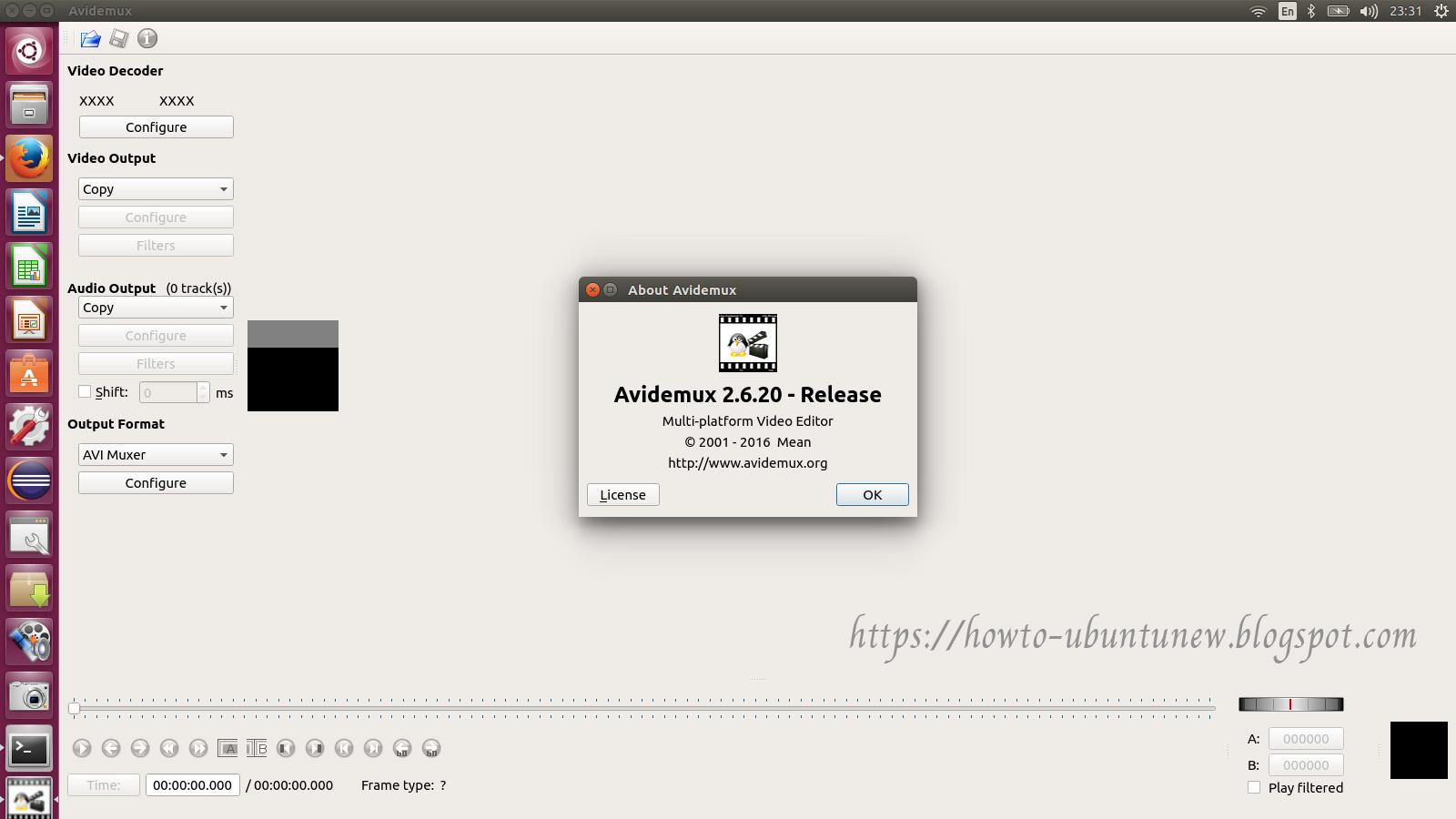 How to install program on Ubuntu: How to install Avidemux