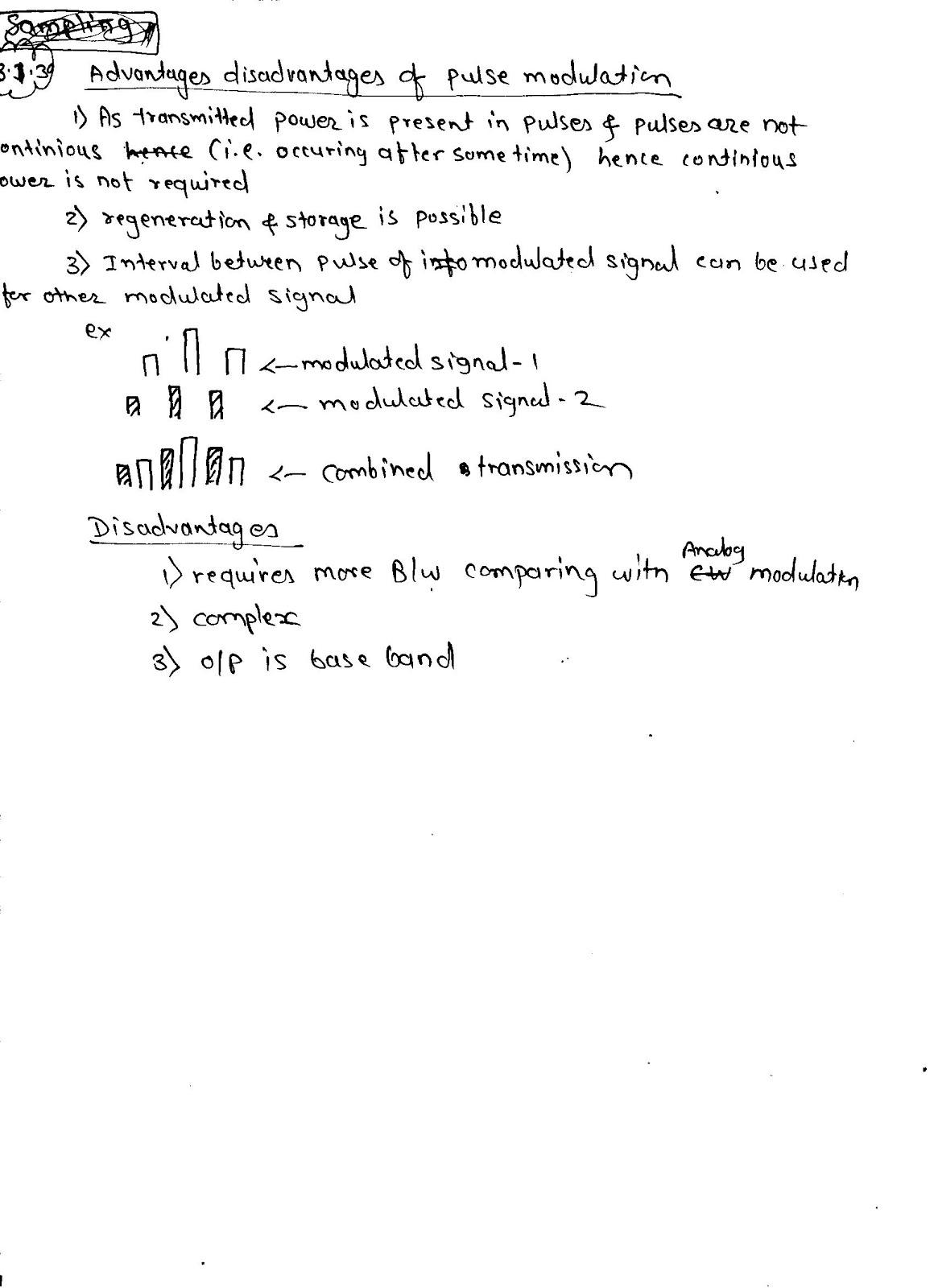 Advantages of pulse communication