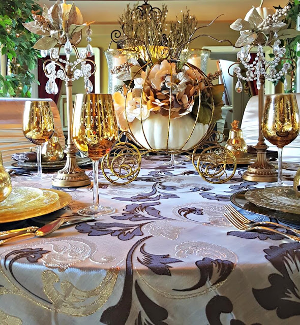 A Fanciful Thanksgiving Table   Life and Linda