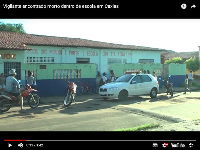 FATALIDADE - Vigilante encontrado morto dentro de escola em Caxias