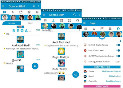Free Download BBM MOD Apk Plus Extra 4 v3.3.1.24 for Android New Version