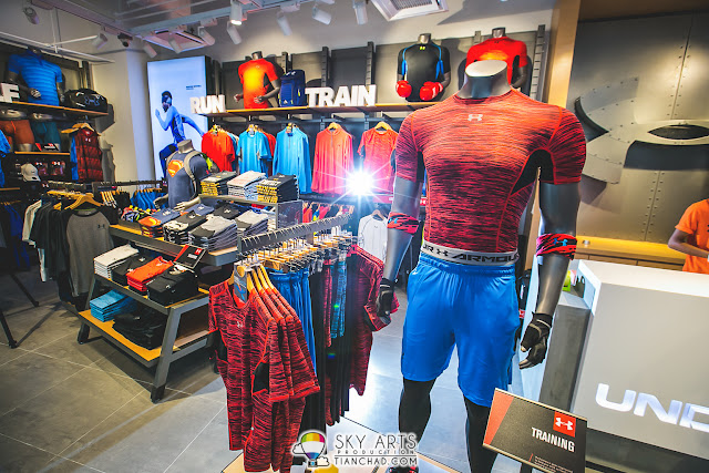 Under Armour sport apparels (men section) at Queensbay Mall 1st Floor