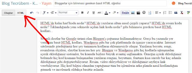 Bloggerlar için bilinmesi gereken basit HTML öğretisi