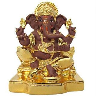 Gold ganesh Murti