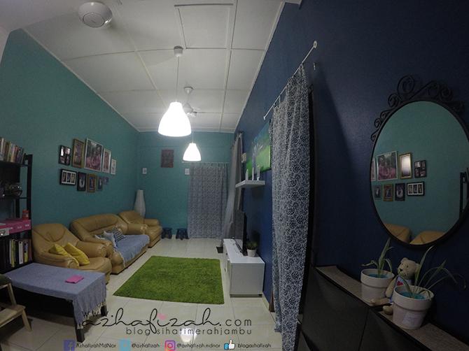 Ruang Tamu Fiza Tukarkan Lampu Pendaflour Pada Syiling Gantung Led Nampak Lebih Menarik Dan Kalau On Suis Je Terus Menyala