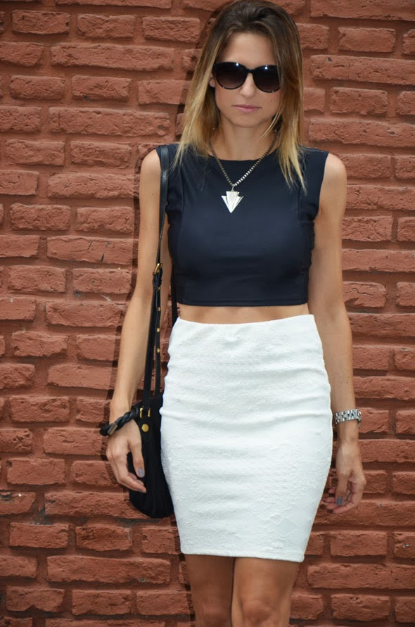 ac31e23eac TE LO DIJE NENA  Crop top + falda tubo    tendencia Sexy !!!