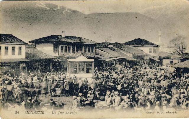 Market day in Bitola, 1917
