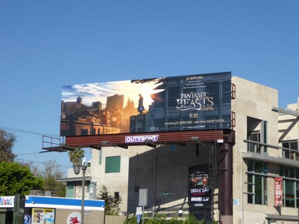 Fantastic Beasts film billboard