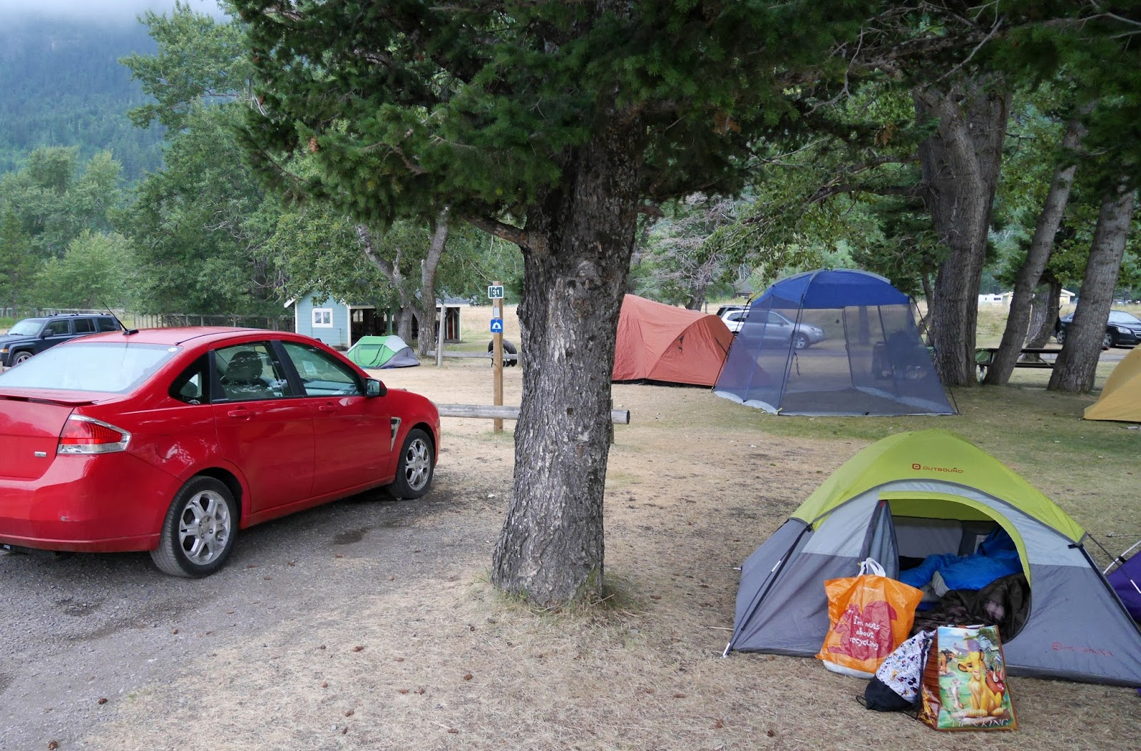 Camping in Waterton Lakes National Park, Alberta