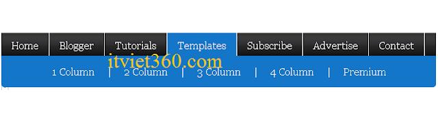 How To Add jQuery Horizontal Sub Navigation to Blogger, menu ngang đẹp cho web blog