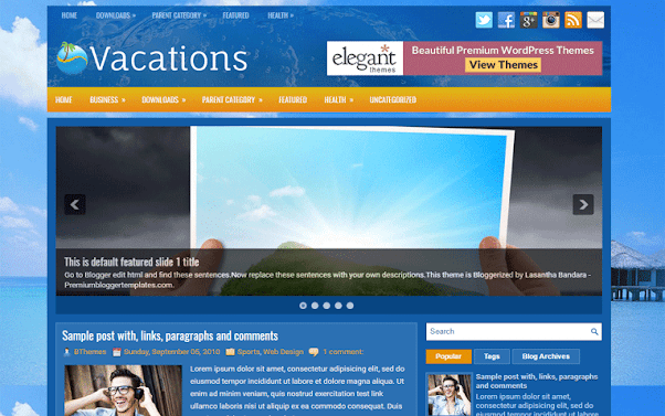 Vacations Free Blogger Template