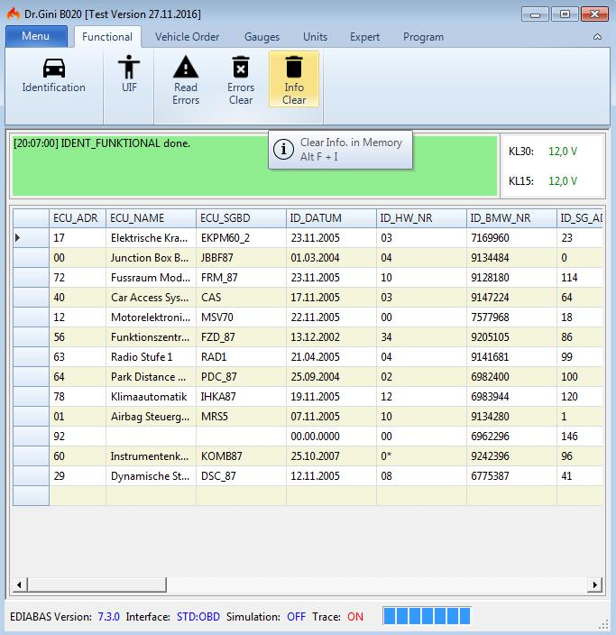 Bmw Dr Gini B020 Engineering Software User Manual Obd365 Com
