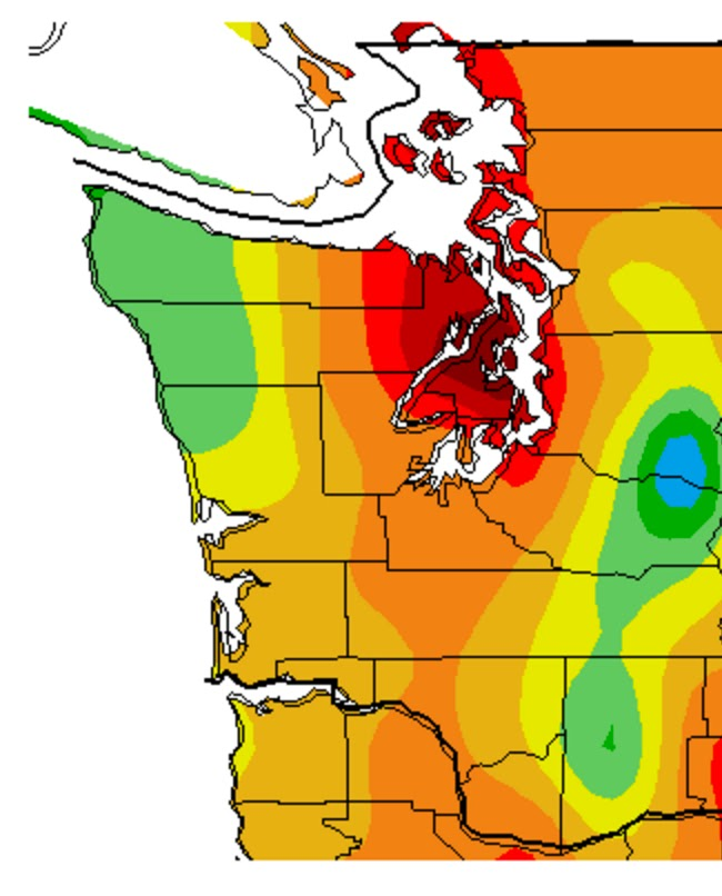 Cliff Mass Weather And Climate Blog The Seattle Rain Shadow - Rain shadow map us