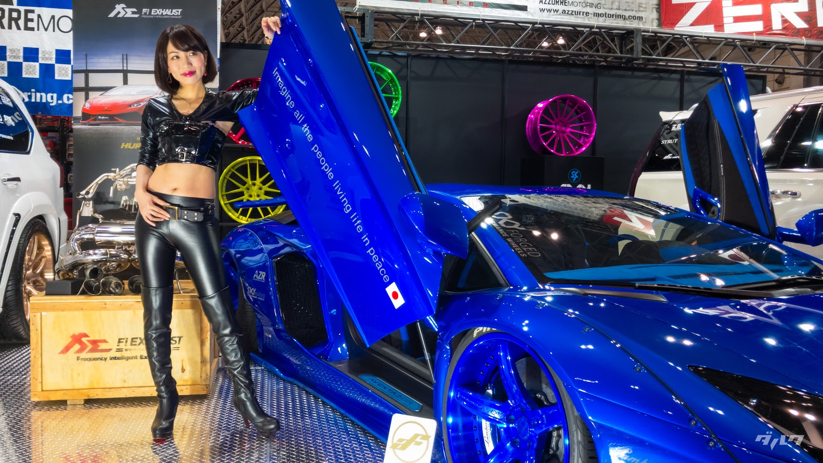 Liberty Walk booth babe lambo wallpaper
