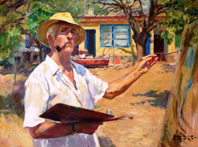José Peris Aragó, Pintores Realistas Españoles, Galería de retratos figurativos, Autorretrato, Pintor español