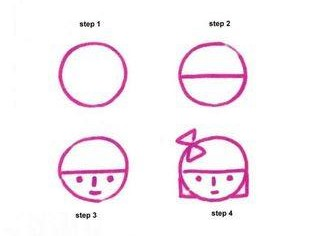 Learn to draw boy and girl face for kids