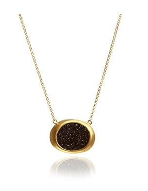 Annoushka Black Onyx Druzy gemstone pendant