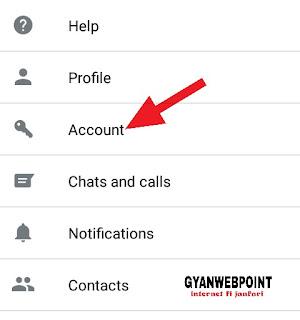 Account par click kare