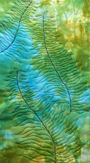 practice piece free motion quilting ferns
