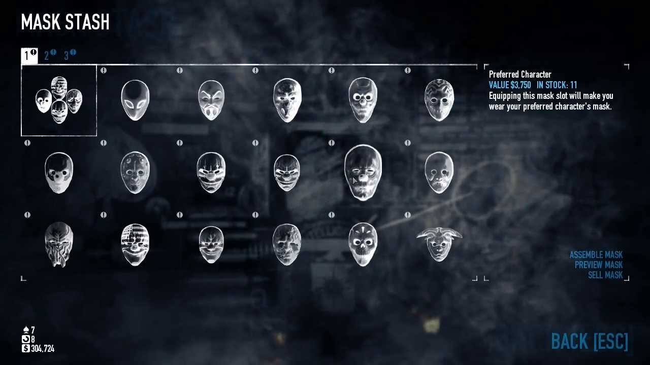Payday 2 has a cool thing going on with masks.
