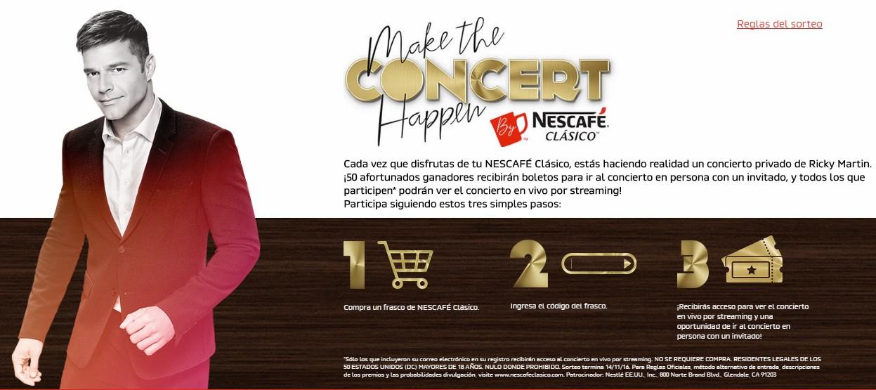 Ricky Martin en Concierto. Participa Y gana !