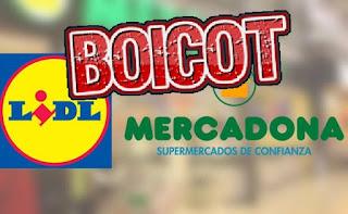 boicot a mercadona y lidl por su apoyo al independentismo